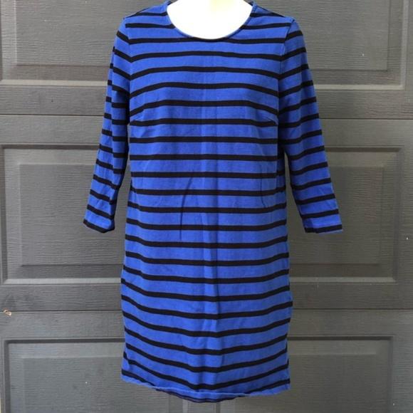 Old Navy Dresses & Skirts - Old Navy   Black & Blue Striped Long Sleeve Dress